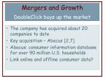 mergers and growth doubleclick buys up the market