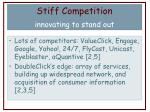stiff competition innovating to stand out