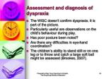 assessment and diagnosis of dyspraxia25