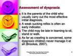 assessment of dyspraxia