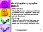 identifying the dysgraphic student38