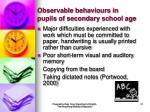 observable behaviours in pupils of secondary school age21