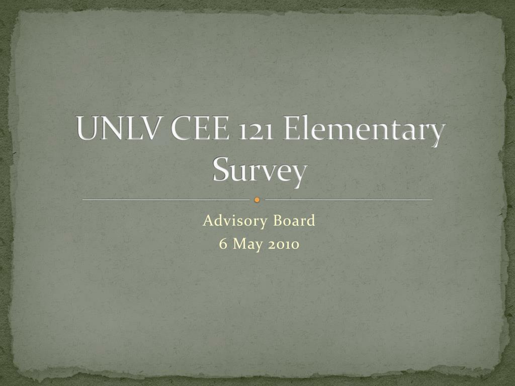 unlv cee 121 elementary survey l.
