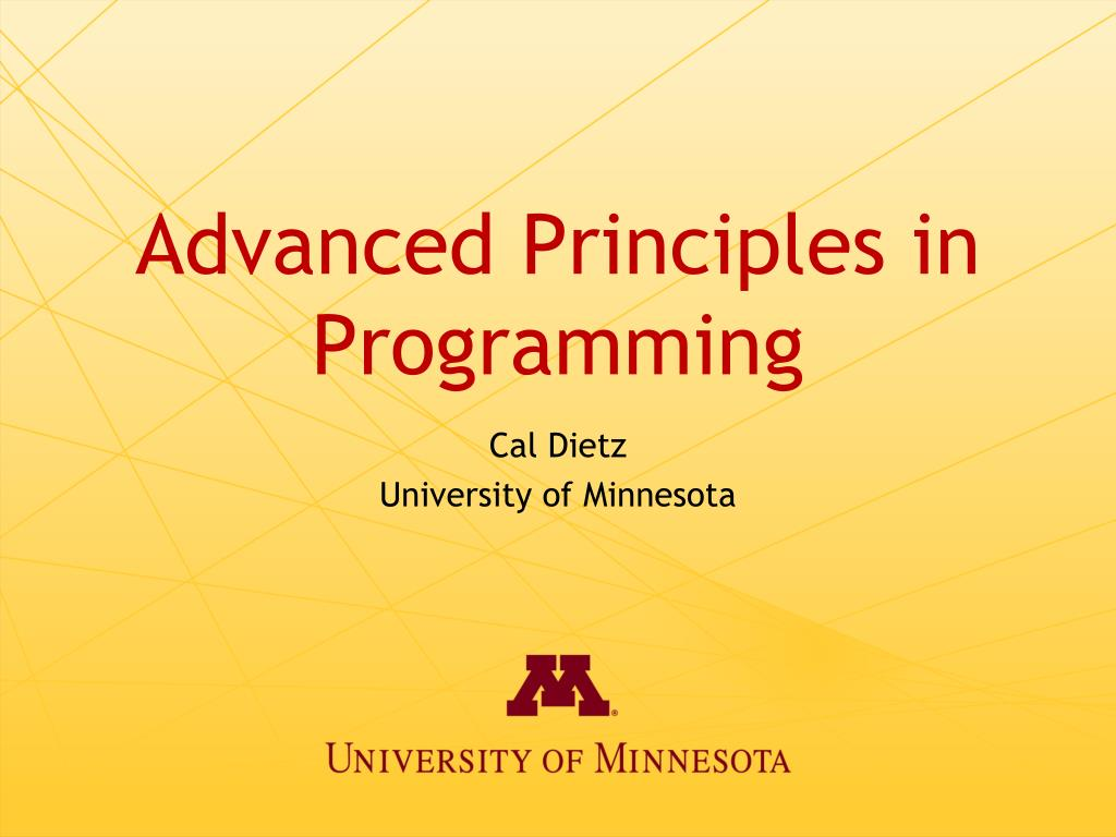 advanced principles in programming l.