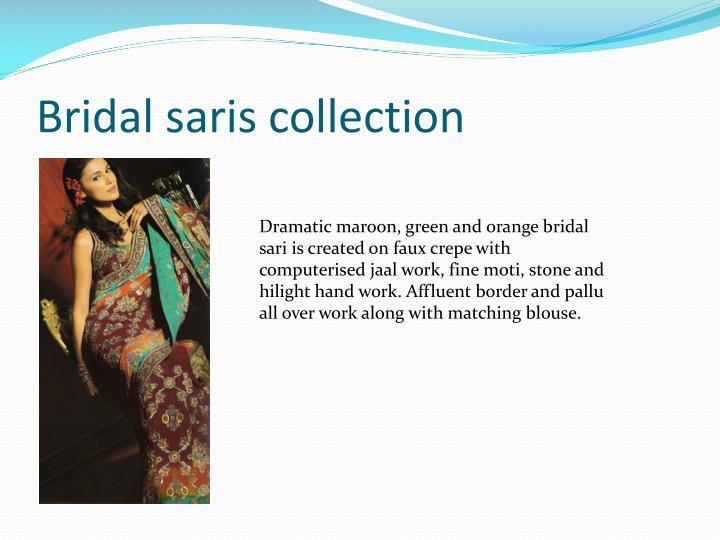 Bridal saris collection