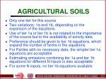 agricultural soils77