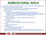 agricultural soils78