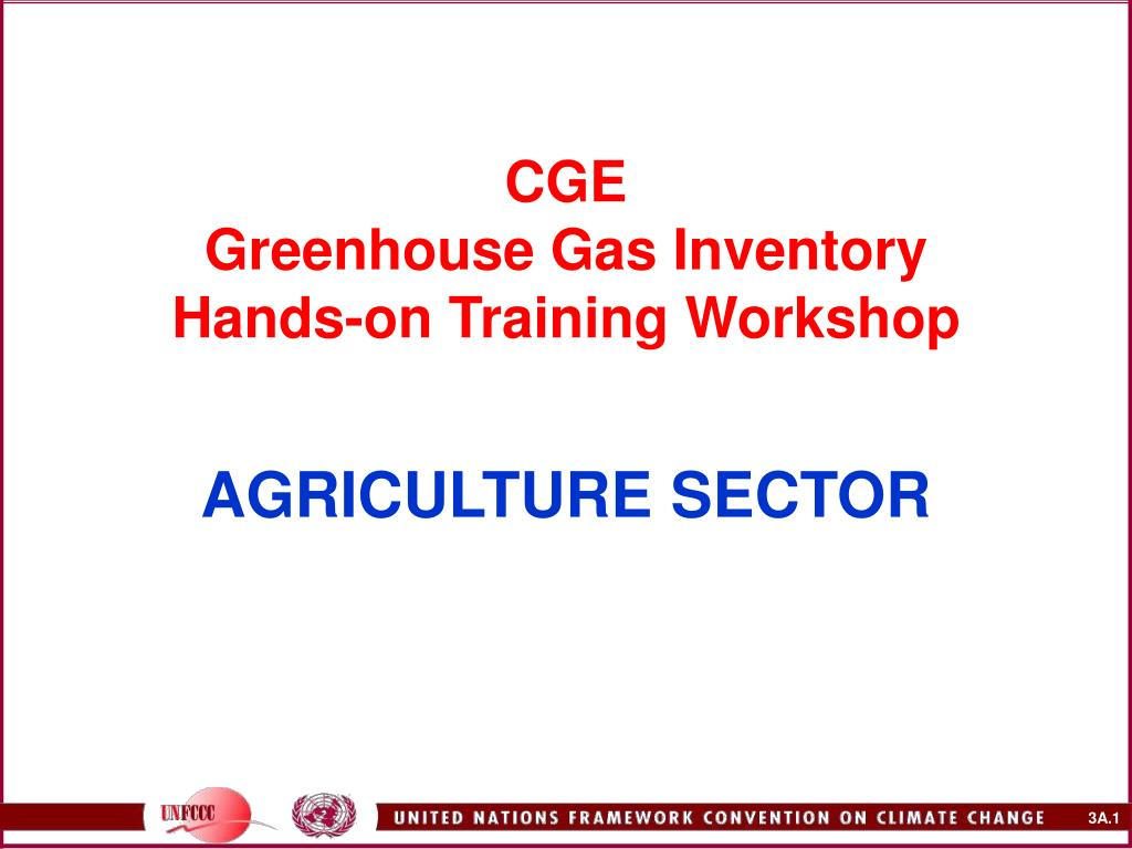cge greenhouse gas inventory hands on training workshop agriculture sector l.