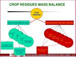crop residues mass balance
