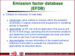 emission factor database efdb100
