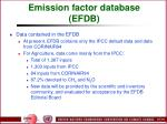 emission factor database efdb102