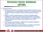 emission factor database efdb97