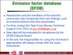 emission factor database efdb99