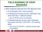 field burning of crop residues73