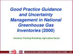 good practice guidance and uncertainty management in national greenhouse gas inventories 2000