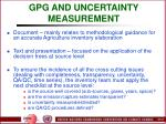 gpg and uncertainty measurement32