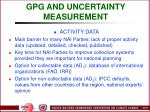 gpg and uncertainty measurement36