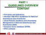 part 1 guidelines overview content