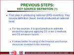 previous steps key source definition 1