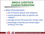 single livestock characterization49