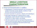 single livestock characterization50