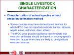 single livestock characterization52