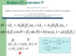 broken ct unbroken p