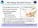 short range ensemble forecast