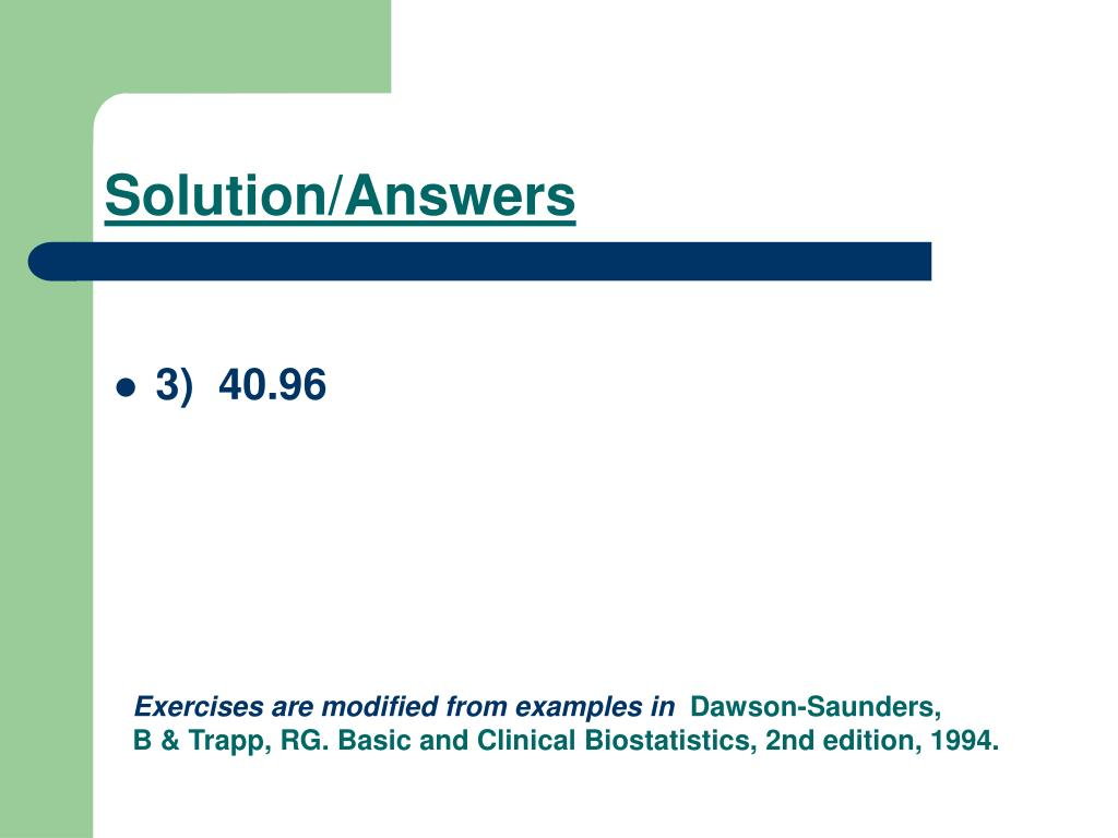Solution/Answers