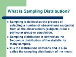 what is sampling distribution