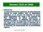 decreto 2323 de 2006
