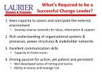 what s required to be a successful change leader