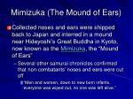mimizuka the mound of ears