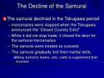 the decline of the samurai