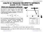cadute di tensione per effetti differiti secondo il d m 9 gennaio 199612