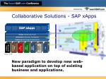 collaborative solutions sap xapps