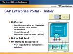 sap enterprise portal unifier