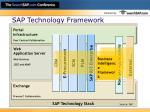 sap technology framework