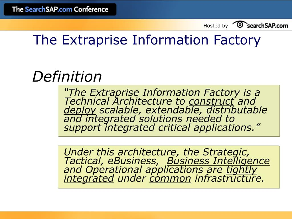 The Extraprise Information Factory