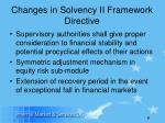 changes in solvency ii framework directive