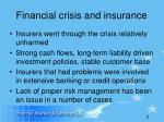 financial crisis and insurance