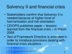 solvency ii and financial crisis
