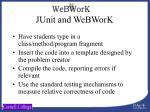 junit and webwork