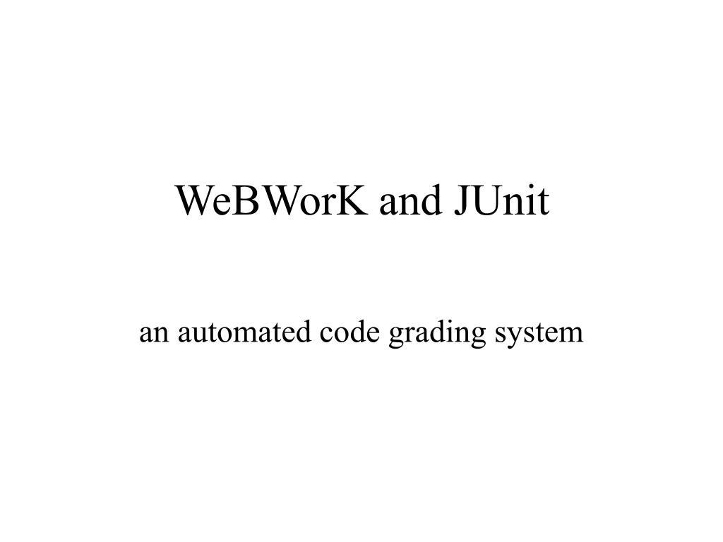 webwork and junit l.