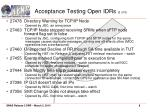 acceptance testing open idrs 2 of 2