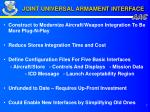 joint universal armament interface