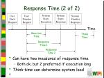 response time 2 of 2