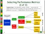 selecting performance metrics 1 of 3