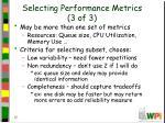 selecting performance metrics 3 of 3