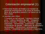 colonizaci n empresarial 1